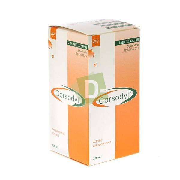 Corsodyl 2 mg / ml Bain de Bouche 200 ml
