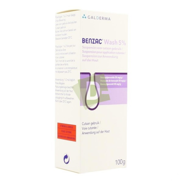 Benzac Wash Suspension Topique 5% 100 g