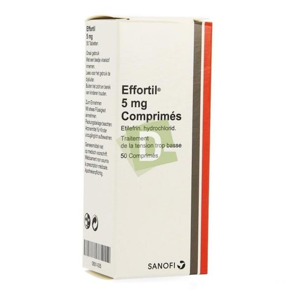 Effortil 5 mg x 50 Comprimés