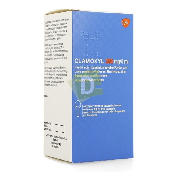 Clamoxyl 250 mg / 5 ml Powder Syrup 100 ml vial