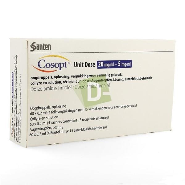 Cosopt (Dorzolamide + Timolol) 20 mg/ ml + 5mg/ ml 0.2 ml x 60 Unidose