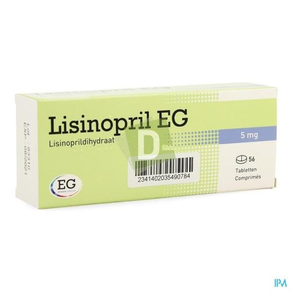 Lisinopril EG 5 mg x 56 Comprimés sécables