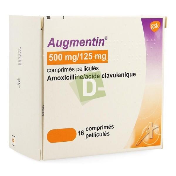Augmentin 500 mg / 125 mg x 16 Film-coated tablets