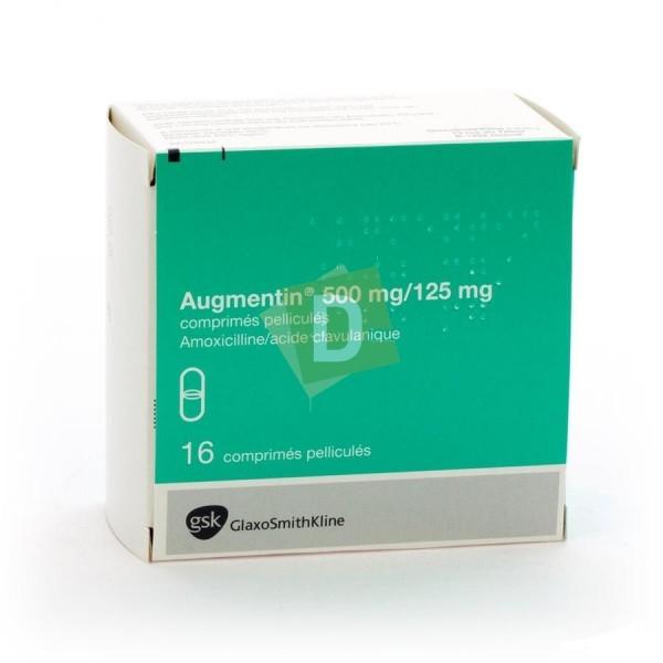 Augmentin 500 mg / 125 mg x 16 Comprimés pelliculés