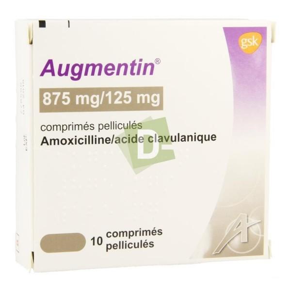 Augmentin 875 mg / 125 mg x 10 Film-coated tablets