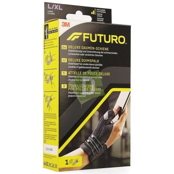 Futuro Attelle Pouce Deluxe Noir L-XL (16.5 - 20.3 cm)