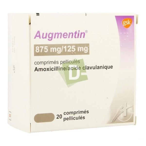 Augmentin 875 mg / 125 mg x 20 Film-coated tablets