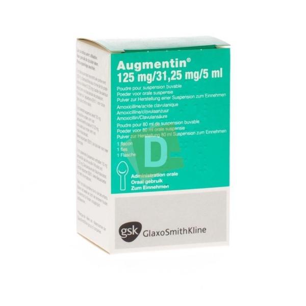 Augmentin 125 mg / 31.25 mg / 5 ml Suspension Buvable Sirop 80 ml
