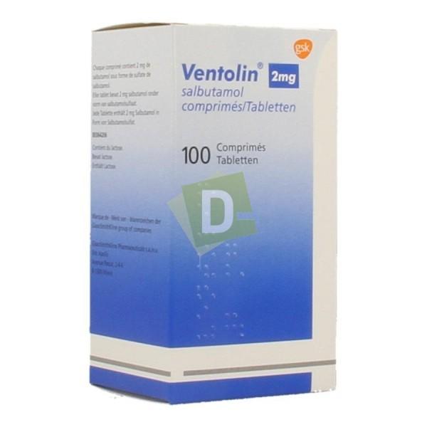 Ventolin 2 mg x 100 Comprimés
