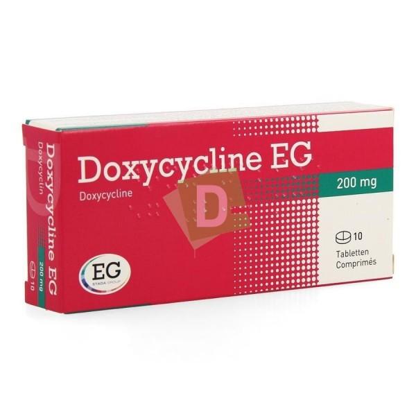 Doxycycline EG 200 mg x 10 Comprimés