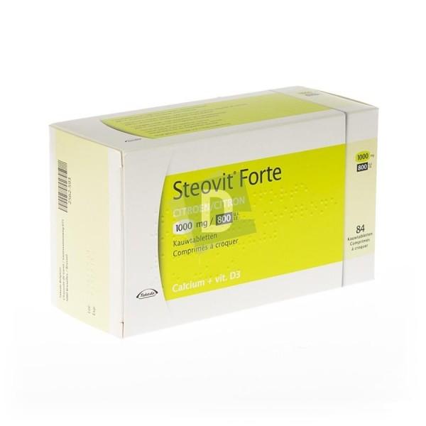 Steovit Forte Citron 1000 mg / 800 Ui x 84 Comprimés à croquer