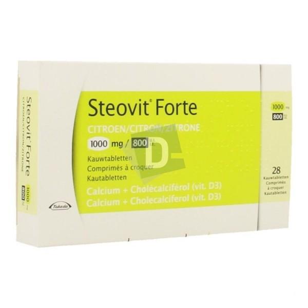 Steovit Forte Citron 1000 mg / 800 Ui x 28 Comprimés à croquer