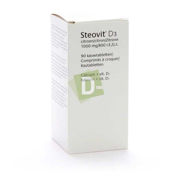 Steovit Forte Citron 1000 mg / 800 Ui x 90 Comprimés à croquer