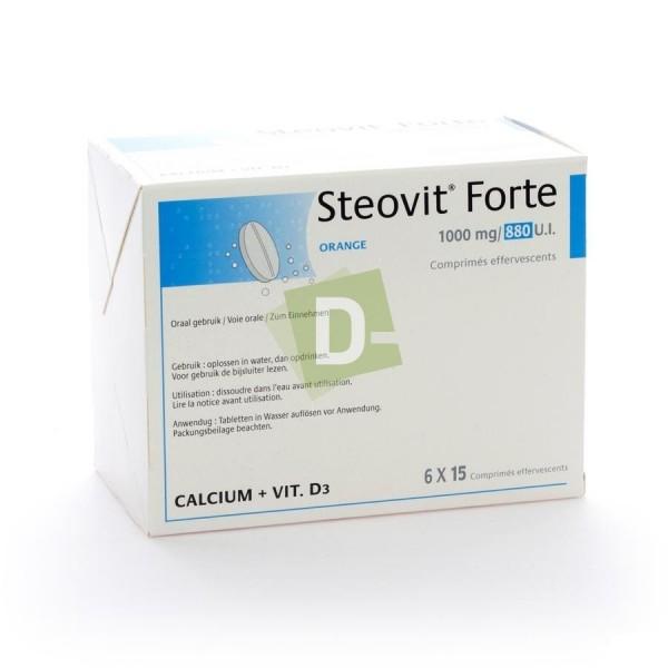 Steovit Forte Orange 1000 mg / 880 Ui x 90 Comprimés effervescents