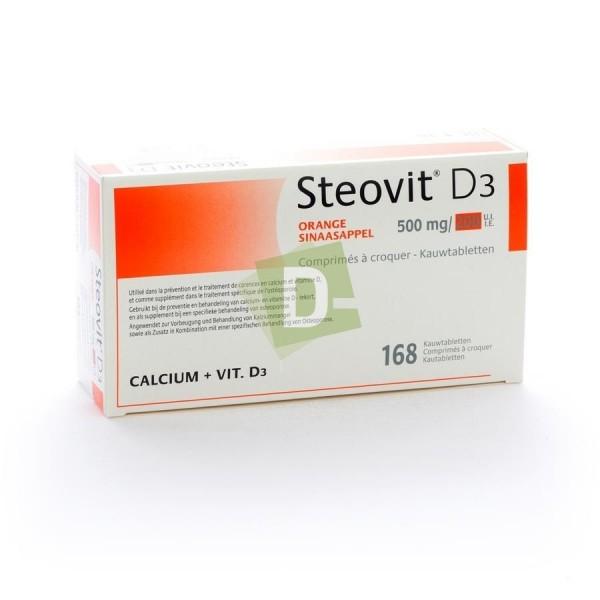 Steovit D3 Orange 500 mg / 200 Ui x 168 Comprimés à croquer