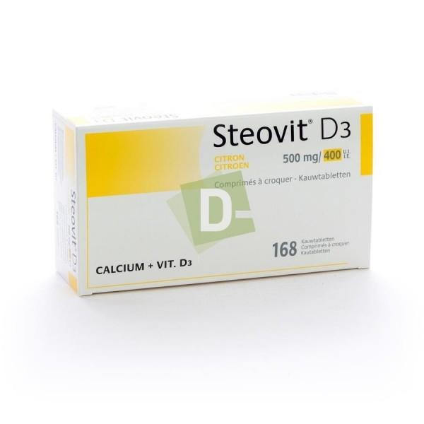 Steovit D3 Citron 500 mg / 400 Ui x 168 Comprimés à croquer