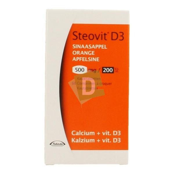 Steovit D3 Orange 500 mg / 200 Ui x 60 Comprimés à croquer