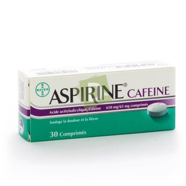 Aspirin Caffeine 650 mg / 65 mg x 30 Tablets