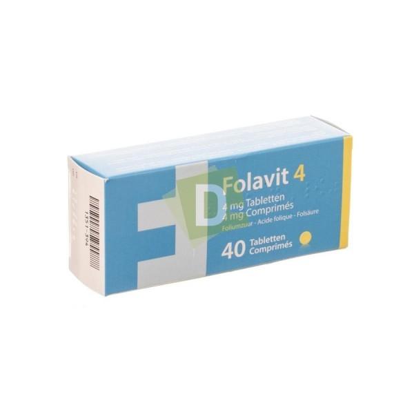 Folavit 4 mg x 40 Comprimés