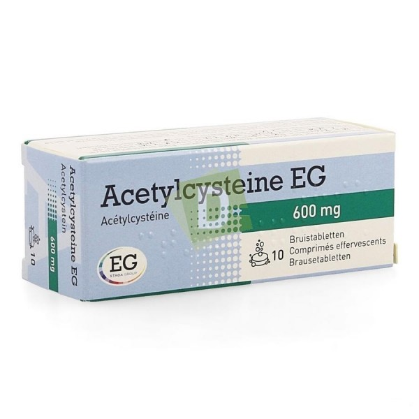 Acetylcysteine EG 600 mg x 10 Comprimés effervescents