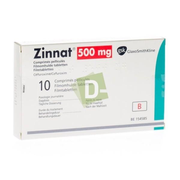 Zinnat 500 mg x 10 Comprimés pelliculés
