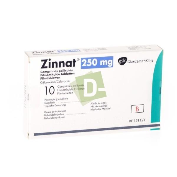 Zinnat 250 mg x 10 Comprimés pelliculés