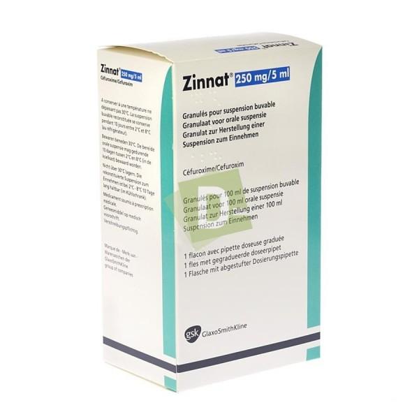 Zinnat 250 mg / 5 ml Suspension buvable 100 ml