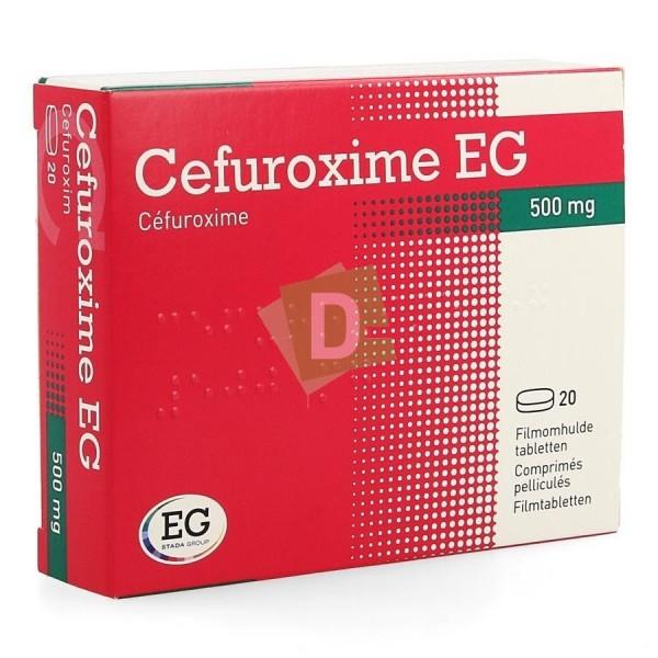 Cefuroxime EG 500 mg x 20 Comprimés pelliculés
