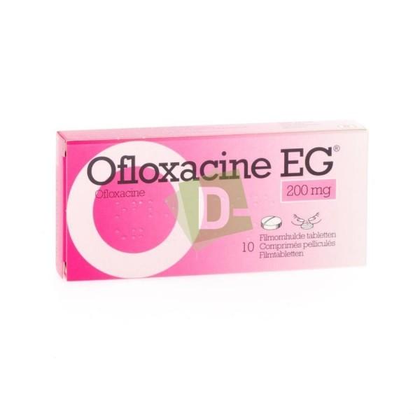 Ofloxacine EG 200 mg x 10 Comprimés pelliculés